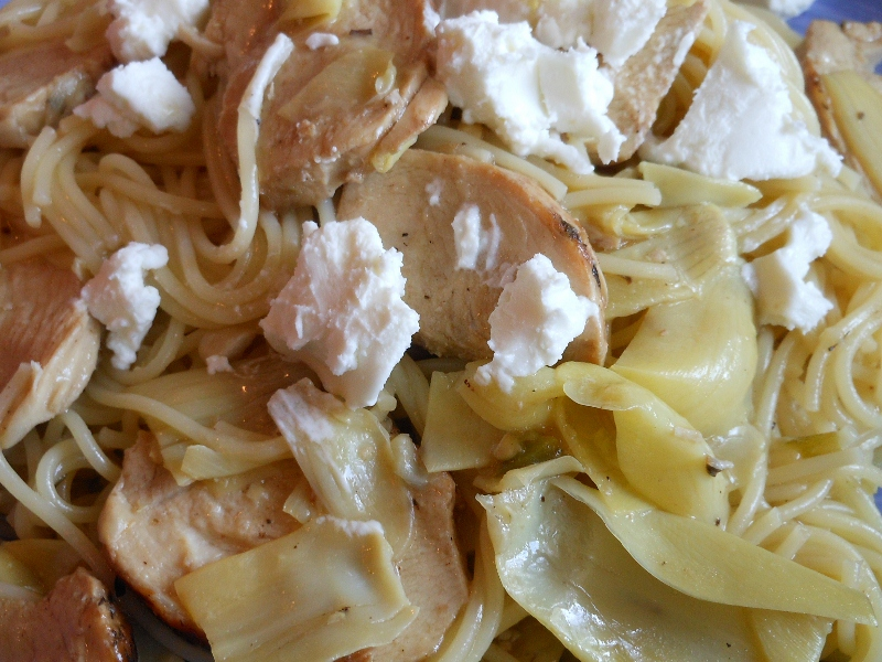 Chicken and Artichoke with Angel Hair Pasta | Charles and ...