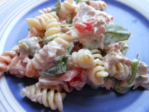 Pasta Salad with Tuna and Spinach | Charles and Kimberly's Recipes
